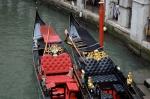 Ornate gondola in Venice, Italy