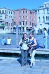 That's our apartment behind us across the Grand Canal