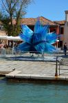 Massive glass sculpture on Murano