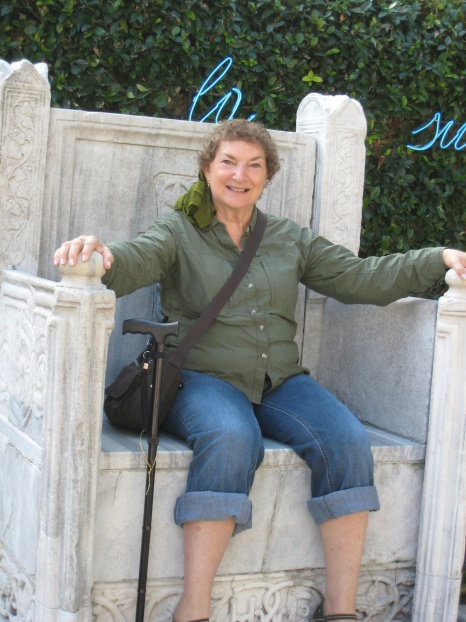 Mama on the Guggenheim throne