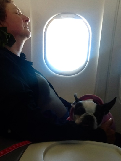 Mama & Abby on the plane
