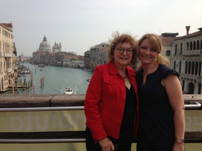 Mama & Me on the Accademia Bridge