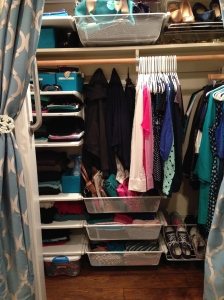FINISHED Project - A Creatively Organized Closet