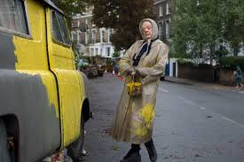 Maggie Smith painting van