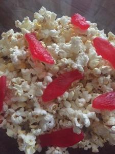 popcorn & swedish fish