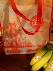 SF bag and bananas