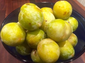 bowl of Emerald Beaut pluots