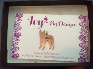 Abby pendant - rose gold boston terrier