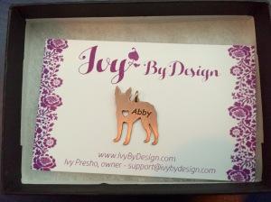 Abby pendant - rose gold boston terrier