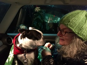 Mama and Paisley on the drive home