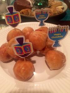 Chanukah jelly donut holes