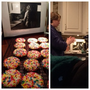 Baking in Nanny's Shadow - confetti cookies