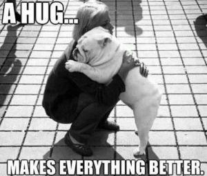 Hug makes everything better meme