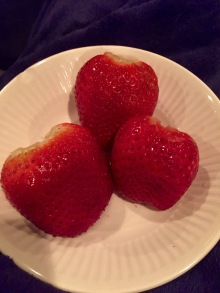 Strawberries at last