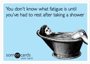 Shower fatigue meme