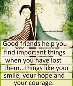 Good friends help you... meme