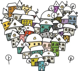 Neighborhood Heart Drawing